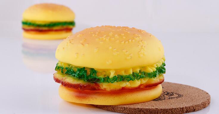 Realistic Burger,Pet Sound Toy,Anti Depression,Safe & Non-toxic,Pet Toy