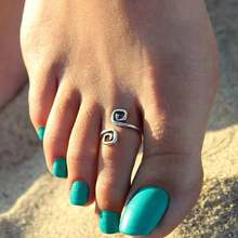 Women Lady Unique Retro Silver Plated Nice Toe Ring Foot Beach Jewelry Hot