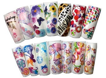 Wholesale 120 different Design HOT Series Nail Art Sticker Full Cover Nail tips sticker For Fashion design+