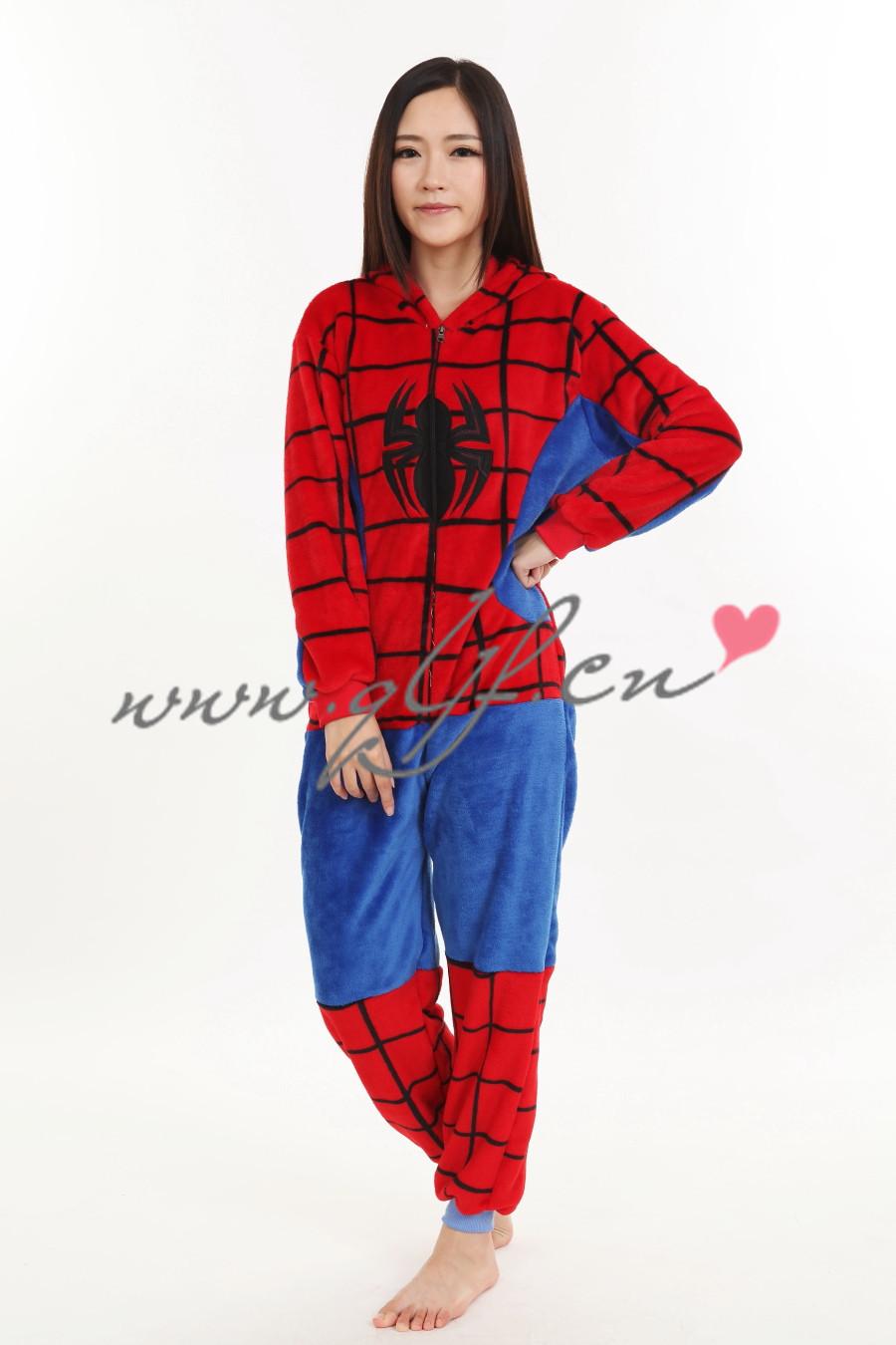Spider man, super movie star cartoon pajamas costume Home Furnishing suit party dress 2014 NEW - Changshu QILI Textile co., LTD store