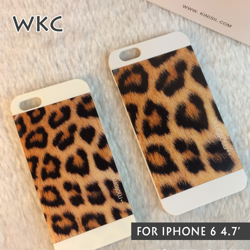 WKC Fashion Brand Hard Plastic Mobile Phone Bag Case for Iphone 6 4.7' Sexy Leopard Capinha capa para Caja Night Bar 2015(China (Mainland))
