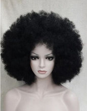 MISS 002638 Black fluffy Afro hair Women's Cosplay Wig