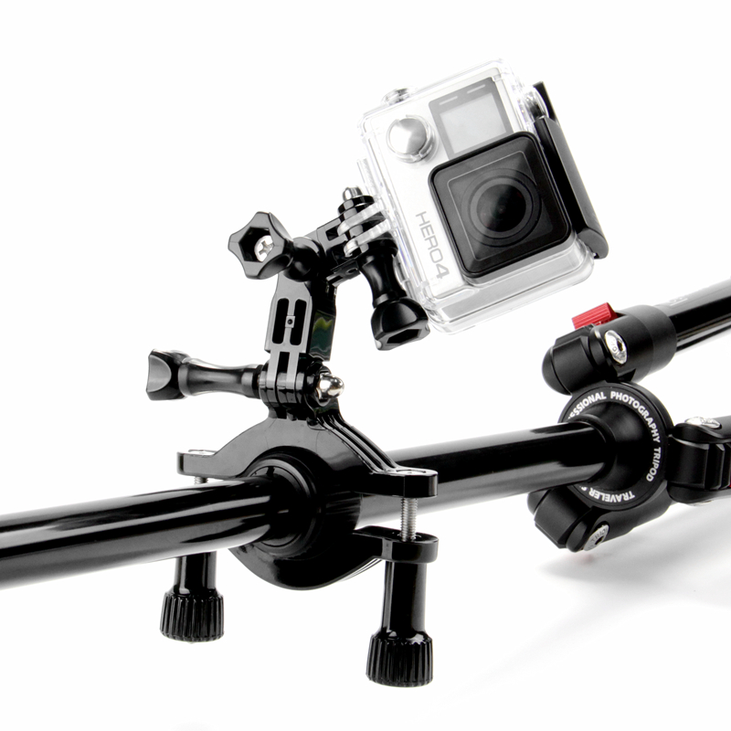 GoPro accessories Bike Motorcycle Handlebar Seatpost Pole Mount & 3 Way Adjustable Pivot Arm for Go pro Hero2 3 3+ xiaomi yiGP66