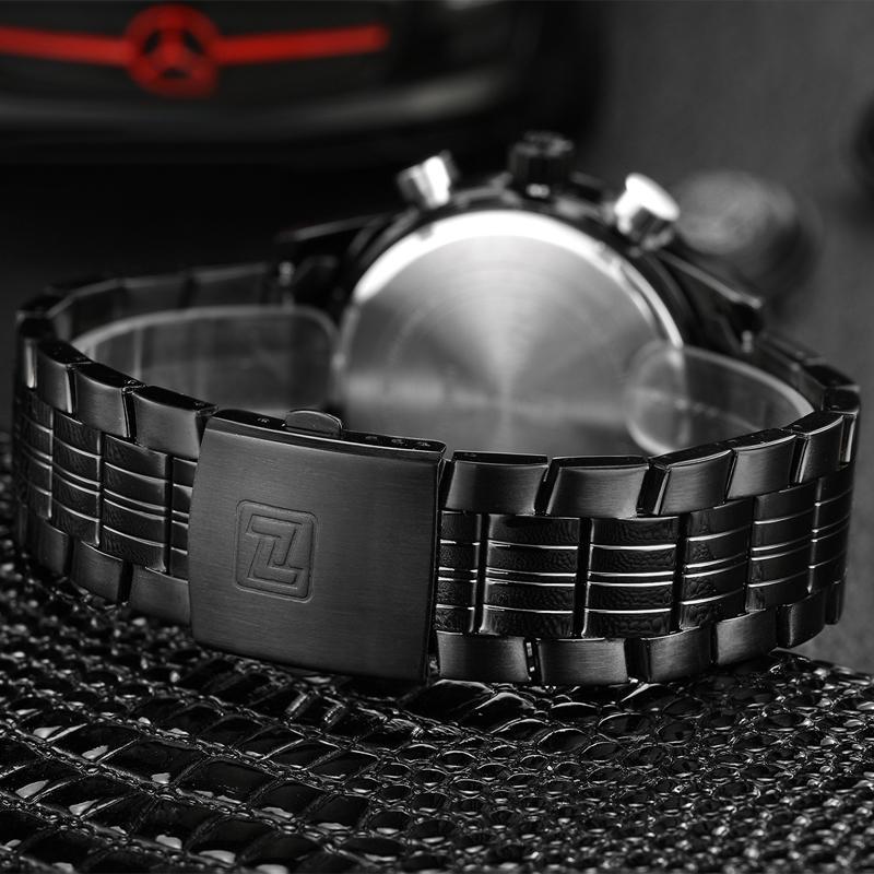 Оригинал Люксовый Бренд NAVIFORCE Кварца Людей Бизнес Черный Часы Из Нержавеющей Стали Спорт СВЕТОДИОДНЫЕ Часы наручные Наручные Часы 2016