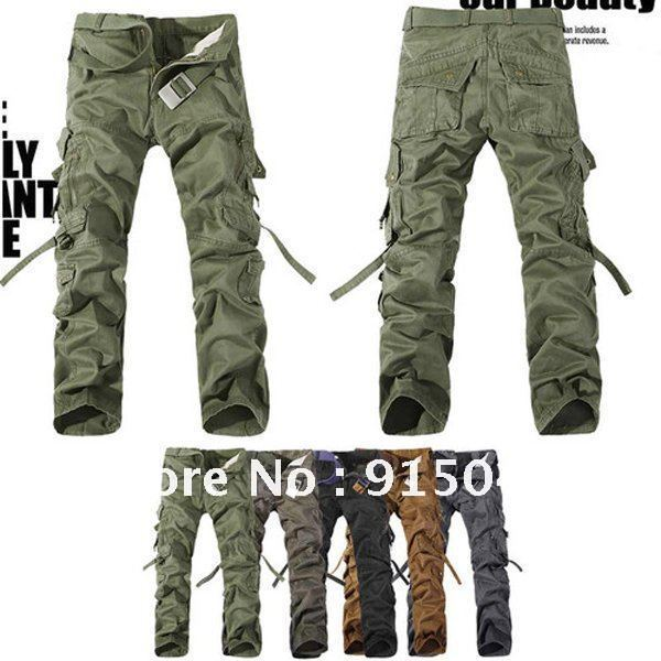 MENS CASUAL MILITARY ARMY CARGO CAMO COMBAT WORK PANTS TROUSERS 28-38 MF-3609