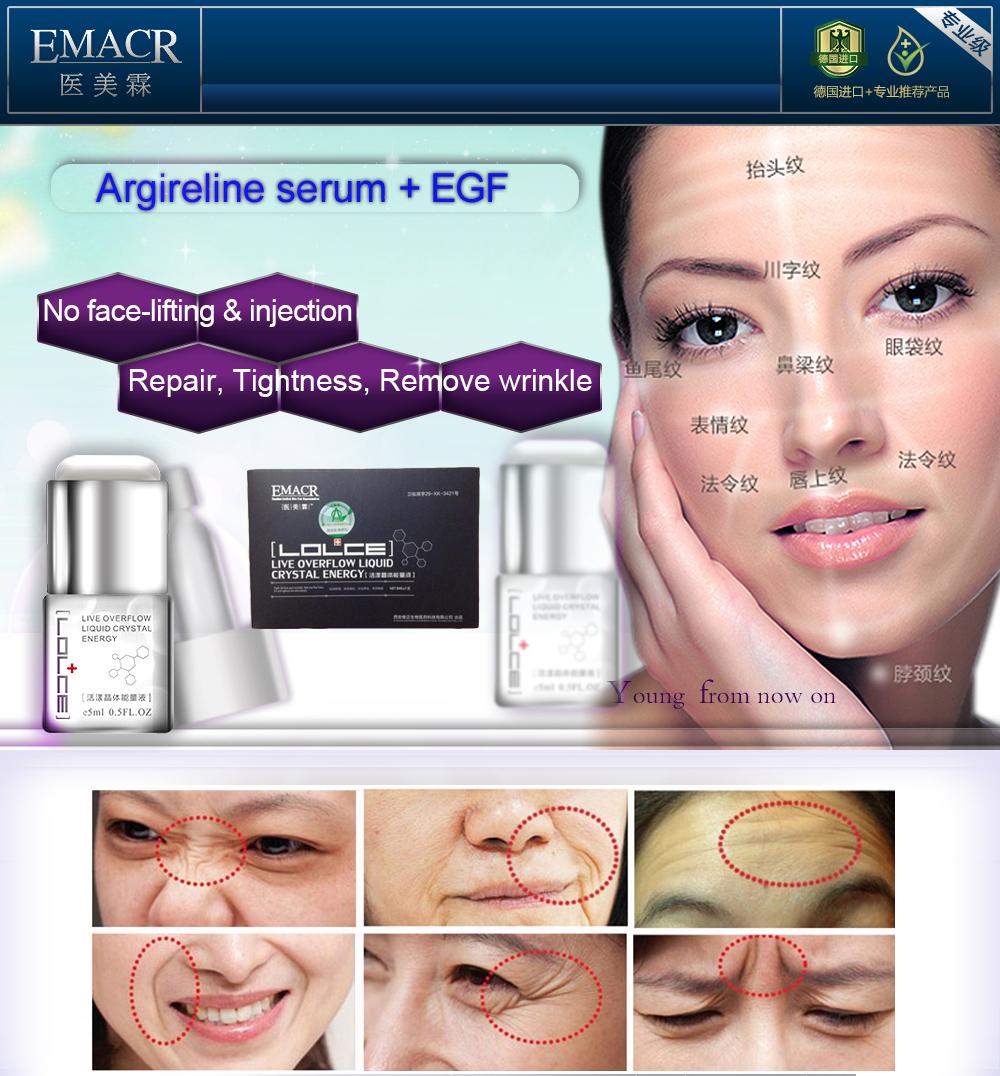 2packs Argireline Peptides EGF Serum Anti Wrinkle removal anti Aging Essence Face Care Cream  Facial Lift Firming Skin Whitening(China (Mainland))