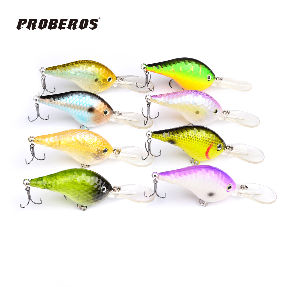 1PC Wood Lures Exported to USA Market Wood Fishing Lures 6.6cm/9.5g Wood Crank bait Retail Box dw-B20(China (Mainland))