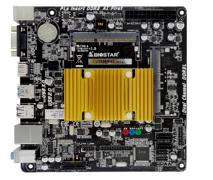 J1900NH3 integrated quad-core CPU Mini-ITX small computer motherboard memory kit(China (Mainland))