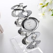 2016 Women Lady's nobler Fashion oval Dial silver Bracelet Watch Time Quartz Wristwatches unique designer female time original