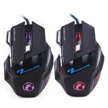 Professional Wired Gaming Mouse 7 Button 5500 DPI LED Optical USB Wired Computer Mouse Mice Cable Mouse High Quality(China (Mainland))