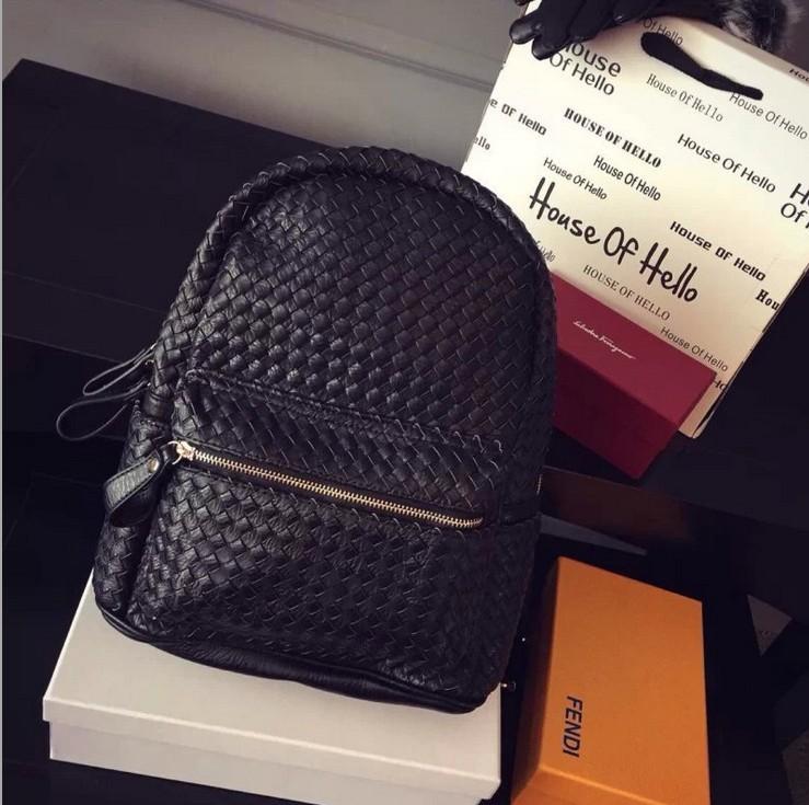 K03243 2015bvs Fashion womens genuine leather backpack backbag hot selling woven pu leather women bag Women Backpacks Designer<br><br>Aliexpress