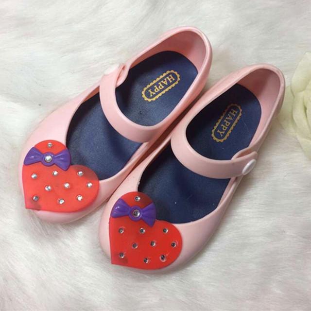 2016 лето мини мелисса обувь девушки малышей сандалии алмаз мягкой глава сандалии черный розовый темно-синий 13 - 15 см