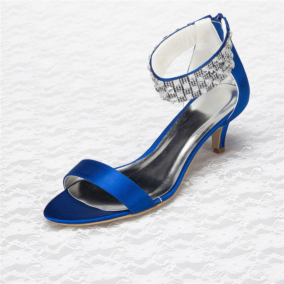 Royal Blue Kitten Heels - Is Heel
