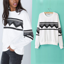 Fashion Europe Womens Ethnic Pullover Tops Blouse Hoodie Sweatshirt Outerwear free shipping (China (Mainland))