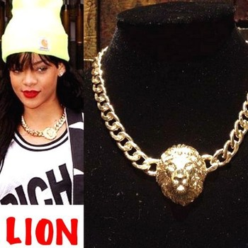 fashion vintage lion necklace wholesale !  free shippping Metal  Chain Necklaces  Statement  jewelry 2014 for women PT33