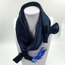 Silk Scarf Acrylic Pendant Multilayer Scarves Pattern Printed Muffler Designer Luxury Brand Scarf 2015 New Women Autumn Fashion(China (Mainland))