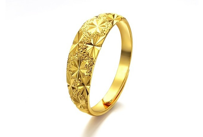 hot sell 18k gold plated rings adjustable size wedding With adjustable gold wedding rings
