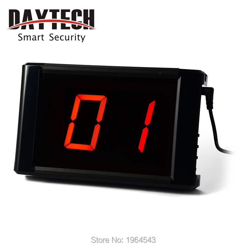 LCD Display Panel Restaurant Call Button Server Paging Systems 433 MHZ Calling System Receiver DC 12V Restaurant Customer E-171()