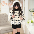 2016 new high quality children s winter faux Fur coat Children Outerwear Jacket warm Outerwear and