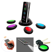 4 in 1 Advanced Wireless Key Finder Remote Key Locator, Anti-Lost with Torch function, 4 receivers and 1 dock buscador dominante(China (Mainland))