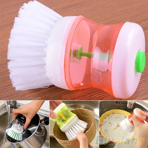 New Kitchen Wash Tool Pot Pan Dish Bowl Palm Brush Scrubber Cleaning Cleaner 2K7Q(China (Mainland))