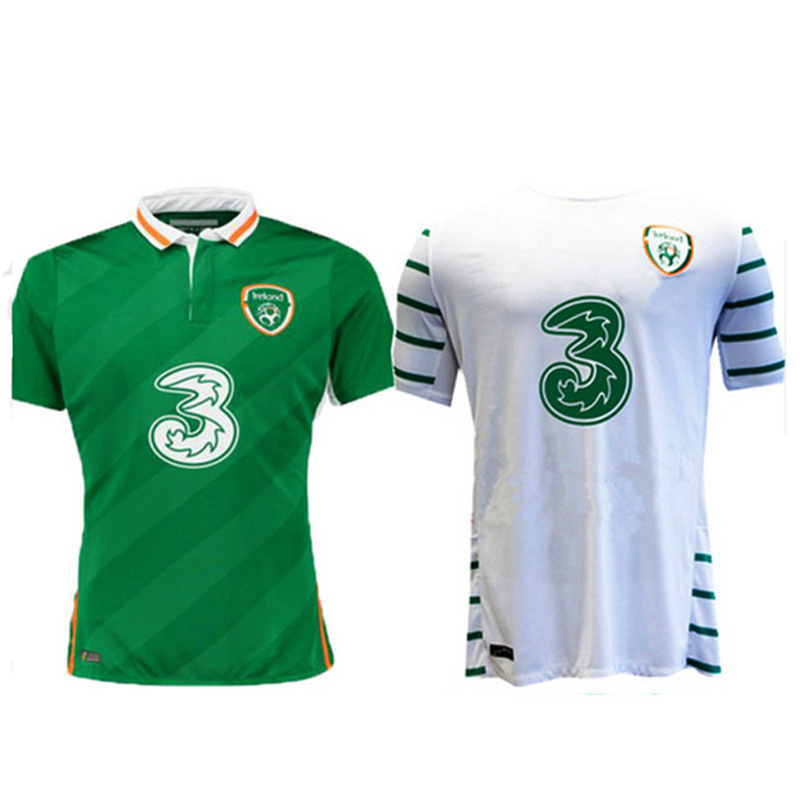 Benwon - 16 17 Republic of Ireland soccer jersey Ireland away white shirt home green jerseys shirts top thai quality t shirts(China (Mainland))