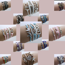 2015 new bracelet best gift Potter Deathly wings Imitation pearl owl Hallows Snitch Cords Bracelet for women pulseiras wholesale(China (Mainland))