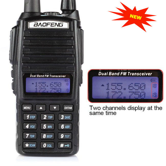 DHL Newest Baofeng UV-82 Dual Band VHF UHF 137-174/400-520MHz Transceiver two way radio Walkie Talkie - Newell E-Shop store
