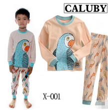 Manufacturers selling 2014 new boys and girls wear pajamas Home Furnishin children sleeve head long sleeved cotton sguit(China (Mainland))