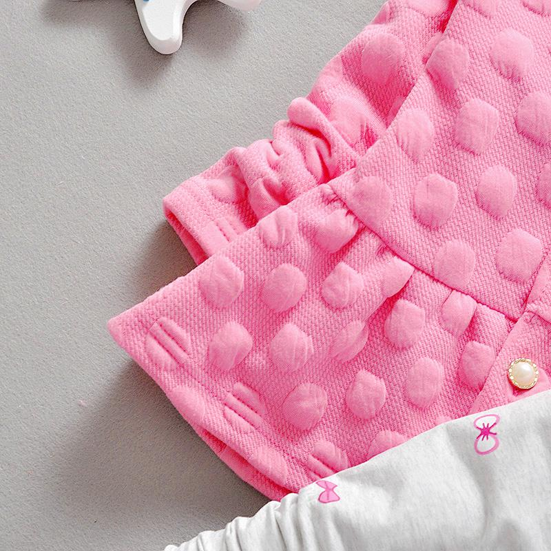 2015 Fashion Brand Baby Girl Clothing Sets Spring Toddler Girls Clothing Sets Kids Girls Clothes Dot Cat Dress Legging Set Suit