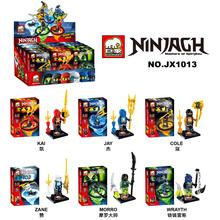Wholesale 15Lot JX1013 Building Blocks Super Heroes Avengers Ninja Minifigure Kaj/Jaya/Cole/Zane/Morro/Wrayth Bricks Mini Figure(China (Mainland))
