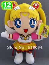 "Free Shipping Japanese Anime Cartoon Sailor Moon Tsukino Usagi Plush Toy Plush Doll Figure Toy 12"" Christmas Birthday Gift(China (Mainland))"