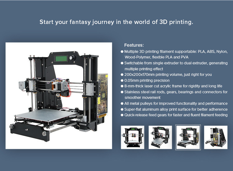 2015 Full Acrylic Quality High Precision Reprap Prusa i3x LCD DIY 3d Printer