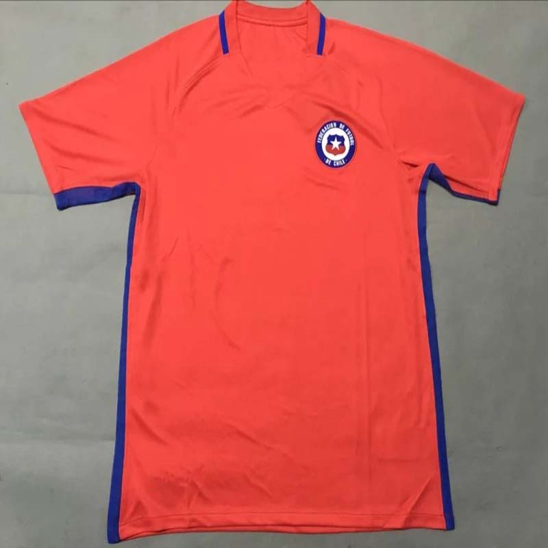 ENW Thai Chile Jersey 2016 2017 New Chile Soccer Jerseys Home Away Maillot DE Foot Shirt 16 17 survetement Football(China (Mainland))