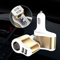 Universal Car Charger Cigarette Lighter Adapter Dual USB Car Charger Smart Mobile Phone Charging For iPhone