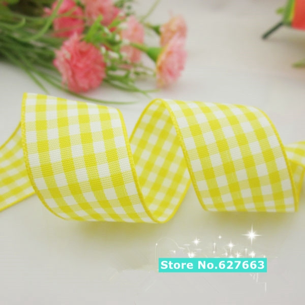 50YDS 1 25mm width styles polyester scottish font b tartan b font gingham ribbon bow decorative
