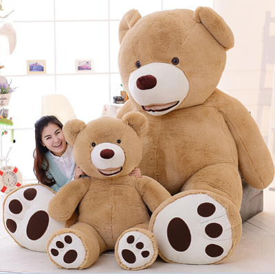 51 inch giant teddy bear plush toy life size teddy bear 1 pcs 130cm kids toys birthday gift Valentine's Day Gifts for women(China (Mainland))