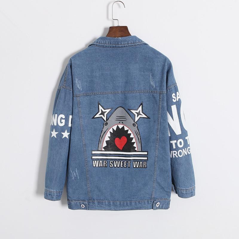 Online Get Cheap Doodle Denim Jacket -Aliexpress.com   Alibaba Group