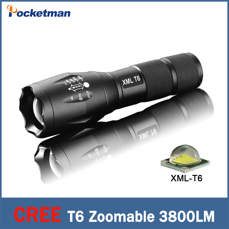 CREE XML-T6 flashlight Lanterna led Torch 3800 lumen Zoomable mini LED rechargeable Flashlight tatica light lantern bike light(China (Mainland))