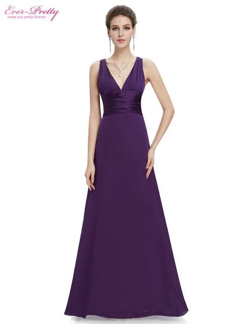 Элегантный сексуальная V шеи длинное вечернее платье формальный элегантный синий ...