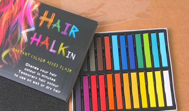 Hot Selling 24 Colors Fashion Hair Chalk,Popular &Temporary Color Hair Chalk,Free Shipping&Good Quality 24 Dye Hair Crayon(China (Mainland))