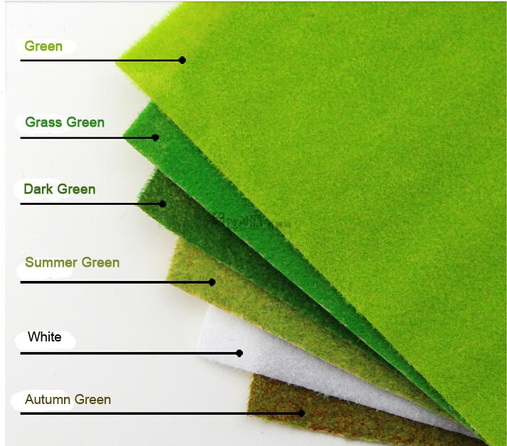 6colors  Model grass mat, building model materials, scale models grass mat for 25cm*25cm<br><br>Aliexpress