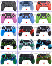 15 Styles 1 PCS Silicone Gel Rubber Case Skin Grip Cover For Playstation 4 PS4 Controller