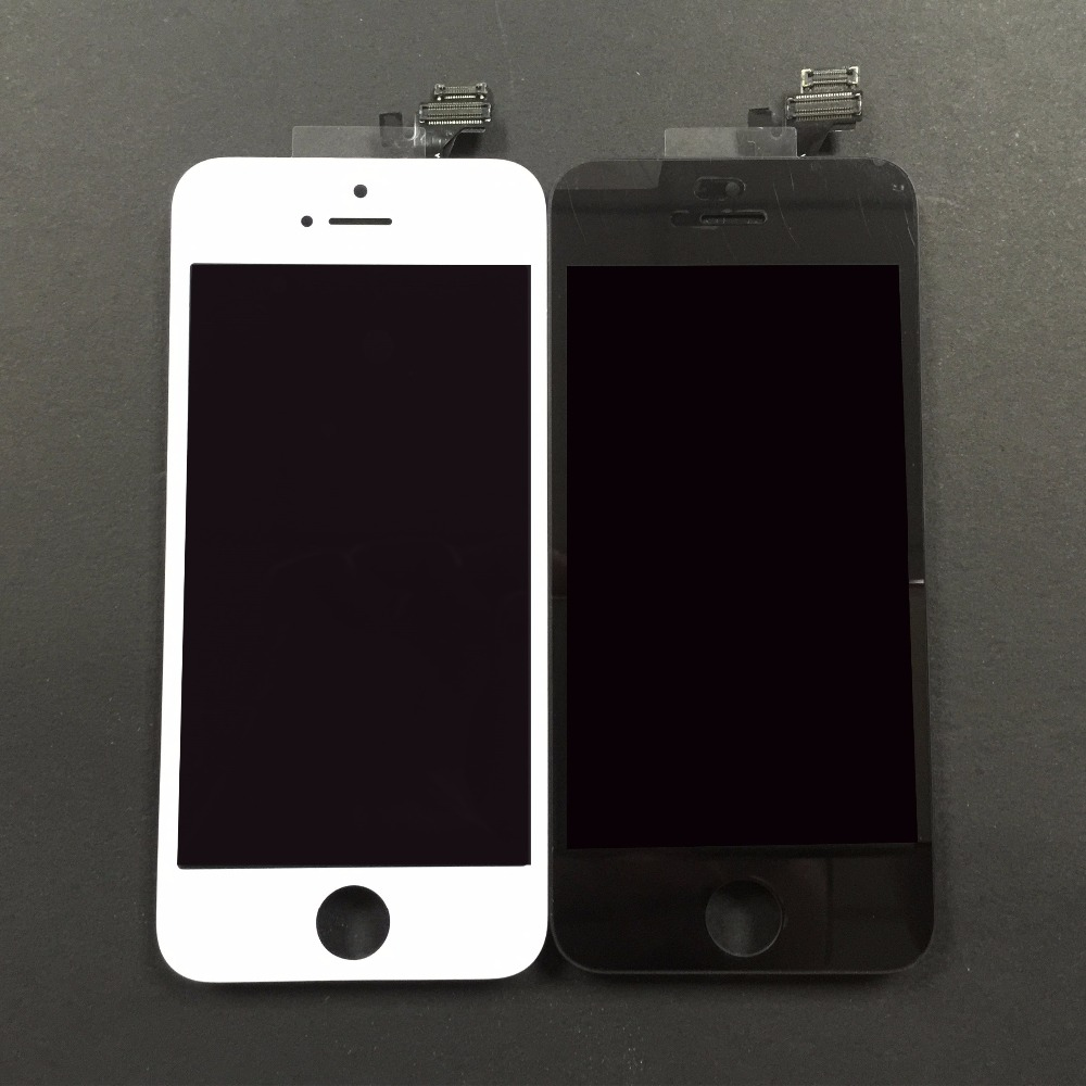 Top Quality For iPhone 5 5G LCD Display Touch Screen Digitizer Assembly Replacement Black or White+Tools
