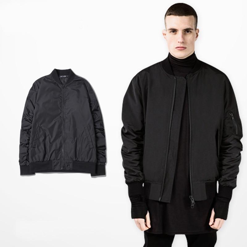 man jacket spring 2015 autumn men jackets hip hop streetwear black ma1 bomber jacket men casual fashion kanye west swag clothes