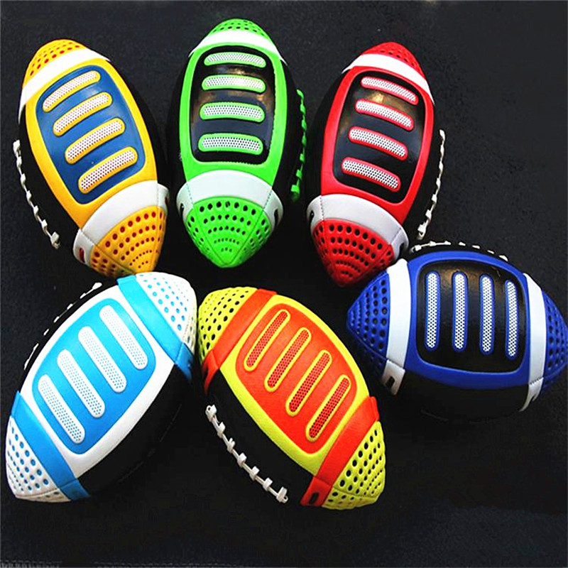 3# American football rugby ball Rubber soft balls for child kids young men women safety(China (Mainland))