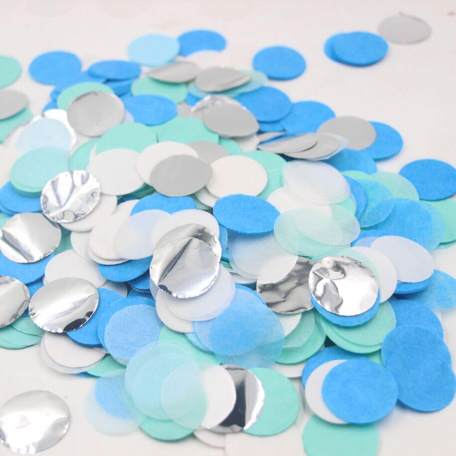 20g Wholesale Party Favor Paper Decor Blue Mint Silver Confetti(China (Mainland))