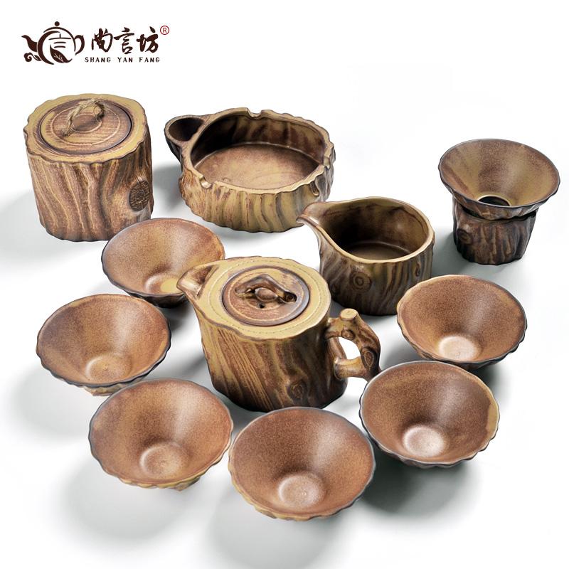 Grof pottenbakkersoven trappenhuizen pot tianhui 11 keramische kung fu thee set geschenkdoos set(China (Mainland))