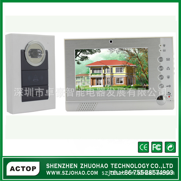 Electronic video camera video intercom doorbell video intercom doorbell doorbell electronic doorbell CCTV connection(China (Mainland))