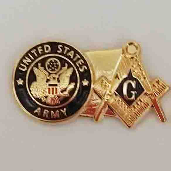 M205 FREE MASON SYMBOL EMBLEM broock pins badge Custom Pin Gold Metal United States Army with Masonic <br><br>Aliexpress
